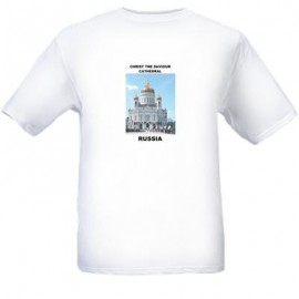 Christ The Saviour Cathedral In Moscow Russia T Shirt